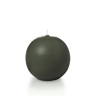 Yummi Sphere / Ball Candles, Olive, 2.8
