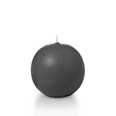 Yummi Sphere / Ball Candles, Grey, 2.8
