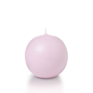 Yummi – Bougies rondes, rose dragée, 2,8 po, 12 bougies par boîte