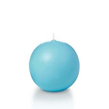 Yummi Sphere / Ball Candles, Caribbean Blue, 2.8