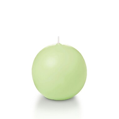 Yummi Sphere / Ball Candles, Mint, 2.8