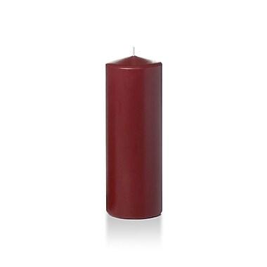 Yummi Round Pillar Candles, Burgundy, 3