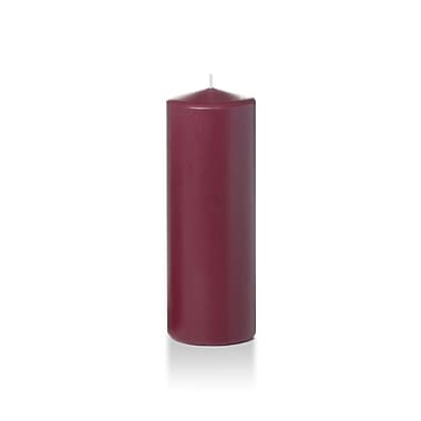 Yummi Round Pillar Candles, Raspberry, 3