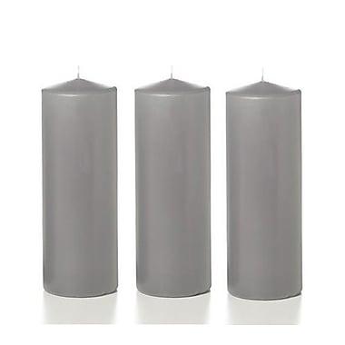 Yummi Round Pillar Candles, Grey, 3