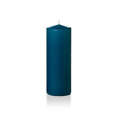Yummi – Bougies-pilier, saphir, 3 x 8 po, 12 bougies par boîte