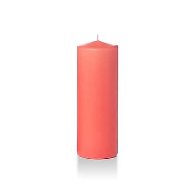 Yummi Round Pillar Candles, Coral, 3