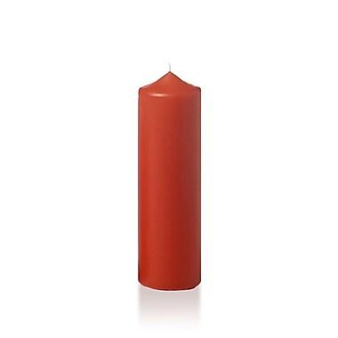 Yummi Slim Round Pillar Candles, Brick, 2.25