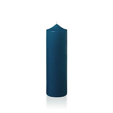 Yummi Slim Round Pillar Candles, Sapphire, 2.25
