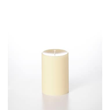Yummi Unscented Column Pillar Candle, Ivory, 4x6, 2 Candles/Box