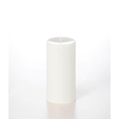 Yummi Unscented Column Pillar Candle, White, 4x8, 2 Candles/Box