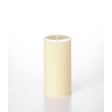 Yummi Unscented Column Pillar Candle, Ivory, 4x8, 2 Candles/Box