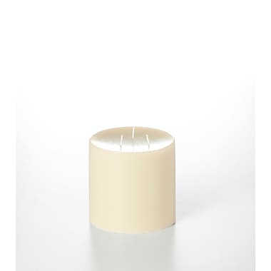 Yummi Unscented Column Pillar Candle, Ivory, 4 Candles/Box