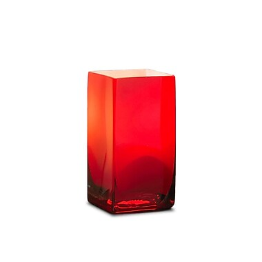 Neo-Image – Porte-chandelle carré en verre Washington, 6 po, rouge