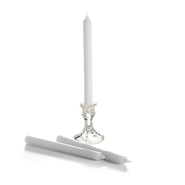 Yummi Formal Taper Candles, White, 8