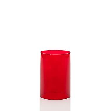 Neo-Image – Abat-jour cylindrique pour lampe, 3 po de hauteur, rouge transparent, unité