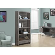 "Monarch 71""H Bookcase with a Drawer, Reclaimed-Look, Dark Taupe"