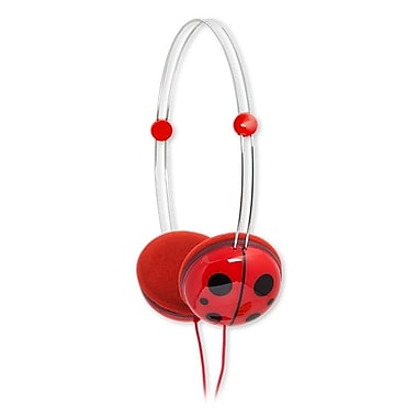 Animatones By iFrogz Volume Limiting Headphones for Kids, Lady Bug