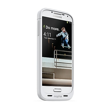 Mophie Juice Pack Battery Case for Samsung Galaxy S4 (2300mAh), White