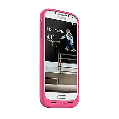 Mophie Juice Pack Battery Case for Samsung Galaxy S4 (2300mAh), Pink