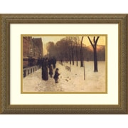 Amanti Art Boston Common at Twilight, 1885-86 Framed Art Print by Frederick Childe Hassam, 14.13H x 18W