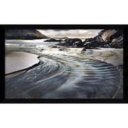 Amanti Art Jeweled Coastline Framed Art Print by William Vanscoy, 26.38H x 42.63W