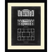 Amanti Art Graphic Building & Plan VI Framed Art Print by James Gibbs, 31.63H x 25.63W