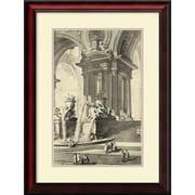 "Amanti Art ""Vintage Roman Ruins IV"" Framed Art Print by Giovanni Battista Piranesi, 27.75""H x 21""W"