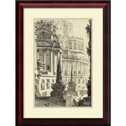 "Amanti Art ""Vintage Roman Ruins III"" Framed Art Print by Giovanni Battista Piranesi, 27.75""H x 21""W"