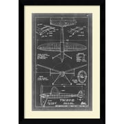 "Amanti Art ""Aeronautic Blueprint III"" Framed Art Print, 36.63""H x 25.63""W"