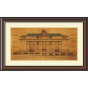 Amanti Art Grand Central Station (Facade) Framed Art Print by Roger Vilar, 27.13H x 44.13W