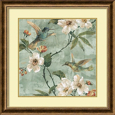 """""Amanti Art """"""""Birds of a Feather II"""""""" Framed Art Print by Renee Campbell, 28.75""""""""H x 28.75""""""""W"""""" 1388866"