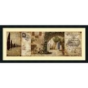 Amanti Art Tuscan Courtyard Framed Art Print by Keith Mallett, 18H x 42W