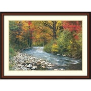 "Amanti Art ""Forest Creek (i)"" Framed Art Print, 32""H x 43""W"