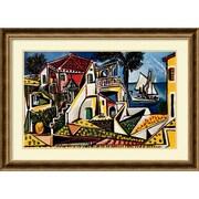 Amanti Art Paysage Mediterraneen Framed Art Print by Pablo Picasso, 26.75H x 37W