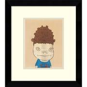"""Amanti Art """"N.Y. (Self-Portrait), 2002"""" Framed Art Print by Yoshitomo Nara, 11.63""""H x 10.13""""W"""