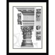 Amanti Art Corinthian Order Framed Art Print by Claude Perrault, 20.38H x 15.63W