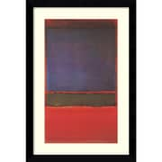 """Amanti Art """"No. 6 - Violet, Green and Red, 1951"""" Framed Art Print by Mark Rothko, 36.38""""H x 24.88""""W"""