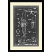 "Amanti Art ""Aeronautic Blueprint IV"" Framed Art Print, 36.63""H x 25.63""W"