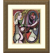 Amanti Art Girl Before a Mirror, 1932 Framed Art Print by Pablo Picasso, 16.13H x 14.13W