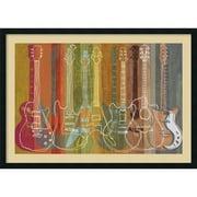 "Amanti Art ""Guitar Heritage"" Framed Art Print by M.J. Lew, 29.88""H x 42""W"