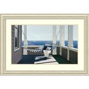 "Amanti Art ""Striped Hammock"" Framed Art Print by Zhen-Huan Lu, 29.38""H x 42.38""W"