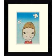 "Amanti Art ""Green Eyes, 2002"" Framed Art Print by Yoshitomo Nara, 12.13""H x 10.13""W"
