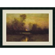 Amanti Art Summer Moonrise Framed Art Print by Dennis Sheehan, 31.13H x 42W