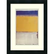 "Amanti Art ""Number 10, 1950"" Framed Art Print by Mark Rothko, 18""H x 13.63""W"