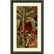 """Amanti Art """"Bali Garden I"""" Framed Art Print by Rodolfo Jimenez, 34.5""""H x 20.88""""W"""