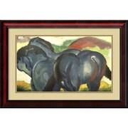 Amanti Art Little Blue Horses, 1911 Framed Art Print by Franz Marc, 18.75H x 27W