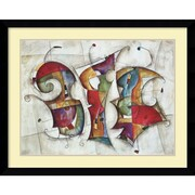 "Amanti Art ""Dance (gold & silver foil)"" Framed Art Print by Eric Waugh, 32""H x 39.88""W"