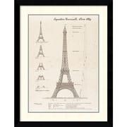 "Amanti Art ""Exposition, Paris 1889 (Eiffel Tower)"" Framed Art Print by Yves Poinsot, 35.88""H x 29.13""W"