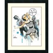 """Amanti Art """"Zombie Love"""" Framed Art Print by Lora Zombie, 21.75""""H x 18""""W"""