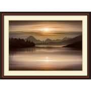 Amanti Art Oxbow Bend Framed Art Print by Ken Messom, 32.88H x 44.88W